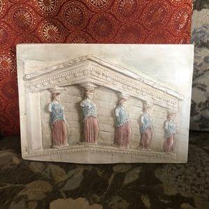 Vintage Greek Porch Of Maidens Plaster Wall Art